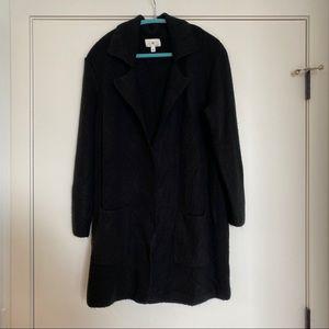 Black Long Cardigan, Size Large
